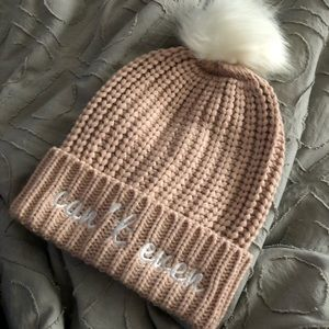 "Blush Pink ""Can't Even"" Beanie"